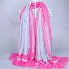 Distinctive Colored Edge Vogue Voile Scarf