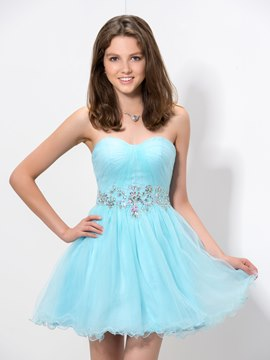 Ericdress Sweetheart Piping Homecoming Dress