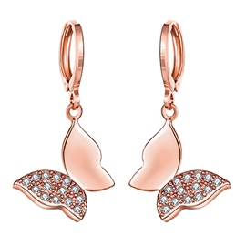 Butterfly Shaped Rose Gold Earrings