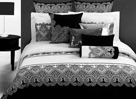 Ericdress Black White Geometric Pattern 4-Piece Bedding Sets