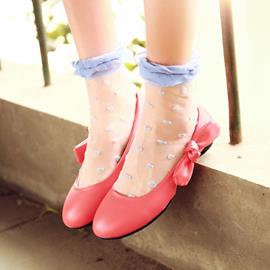 Ericdress Sweet Candy Color Bowtie Flats