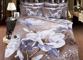 Ericdress Flower Print 5 Piece 3D Bedding Sets
