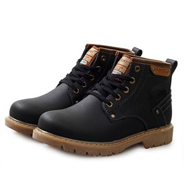 Ericdress Round Toe Lace-Up Men's Boots