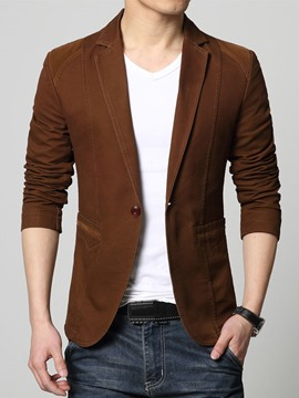 Ericdress Solid Color Men's Coat