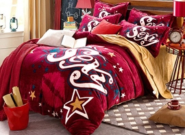 Ericdress Word Star Print 4-Piece Bedding Sets