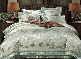 Ericdress Flower Jacquard Satin Drill 4-Piece Bedding Sets