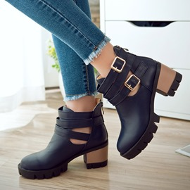 Ericdress Charming Buckles Ankle Boots