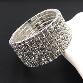 All Crystal Decorated Shining Bracelet