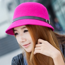 Concise Pure Color Wool Hat