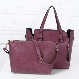 Ericdress Leisure Nubuck Leather Tote Bags(2 Bags)