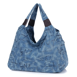 Ericdress Cool Leisure Canvas Tote Bag