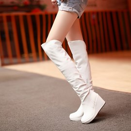 Ericdress European Wedge Knee High Knight Boots