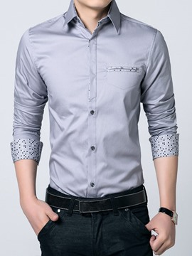 Ericdress Plus Size Print Sleeve Fall Men's Shirt