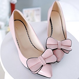 Ericdress Delicate Bowtie Decoration Mid Heel Pumps