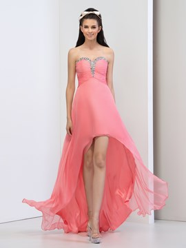 Ericdress A-Line Sweetheart Sequins Asymmetry Prom Dress