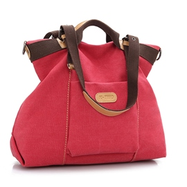 Ericdress Solid Color Big Canvas Tote Bag