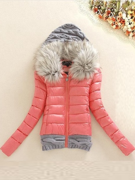 Ericdress Patchwork Cutton Padded Coat