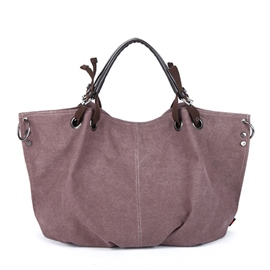 Ericdress Solid Color Belt Decorated Tote Bag