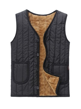 Ericdress Black with Villus Men's Vest