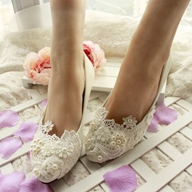 Ericdress Lace&Pearl Wedding Shoes