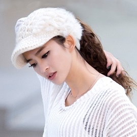 Soft Cony Decorated Warm Hat