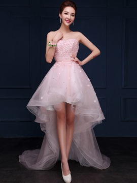 Ericdress Sweetheart A-Line Beading Flowers Asymmetric Homecoming Dress