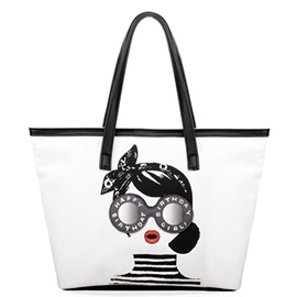 Ericdress Simple Fashion Girl Print Tote Bag