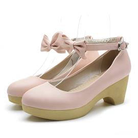 Ericdress Candy Color Wedges with Bowtie