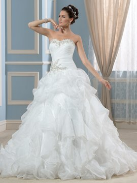 Ericdress Elegant Sweetheart Beading A Line Wedding Dress