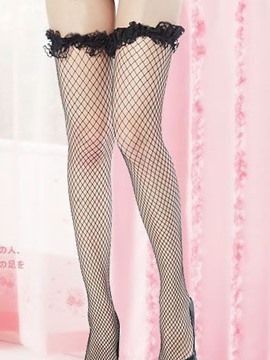 Ericdress Plain Fishnet Laciness Assorted Color Stocking