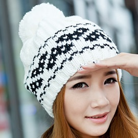 Flower Printed Female Elegant Hat