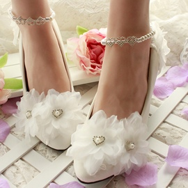 Ericdress Crystal&pearl Ankle Strap Wedding Shoes