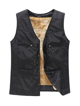 Ericdress Plain with Villus Men's Vest