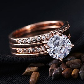 Distinctive Rose Gold Female Ring