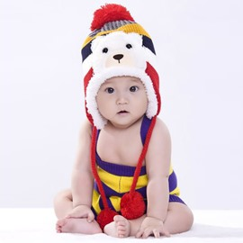 The Polar Bear Decorated Cute Kids Cotton Hat
