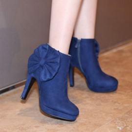 Ericdress Sweet Bowknot High Heel Boots