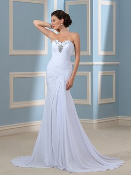 Ericdress Charming Sweetheart Beading Chiffon Wedding Dress