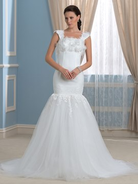 Ericdress Fancy Straps Flowers Mermaid Wedding Dress
