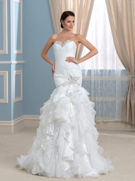 Ericdress Elegant Sweetheart Beading Mermaid Wedding Dress