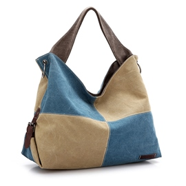 Ericdress Geometric Pattern Color Block Tote Bag