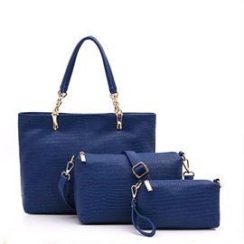 Ericdress Pure Color Alligator Tote Bags(3 Bags)