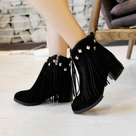 Ericdress Fashion Rivets&tassels Ankle Boots
