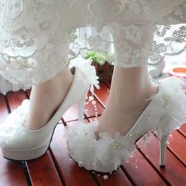 Ericdress Lace Flower Wedding Shoes