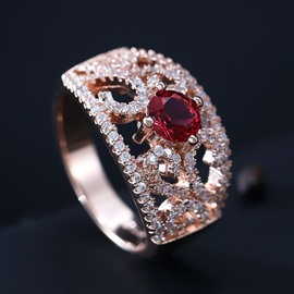 Ethnic Style Luxurious Female Ring