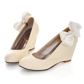 Ericdress Sweet Bowtie Wedges