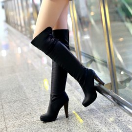 Ericdress Elegant Knight Knee High Boots