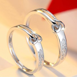 Sweet Heart Shaped Open Couple Rings(Price for a Pair)