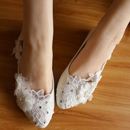 Ericdress Charming Lace Flower Wedding Shoes