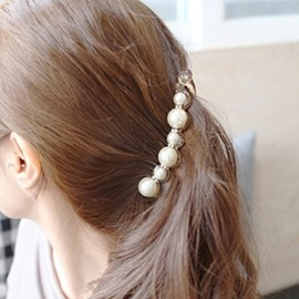 Korean Style Big Pearl Decorated Vogue Hair Clip