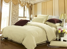 Ericdress Elegant Graceful Beige Cotton 4-Piece Bedding Sets